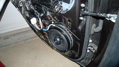 2013 Mitsubishi Lancer Evolution X Rear Door Speaker Installation - USA