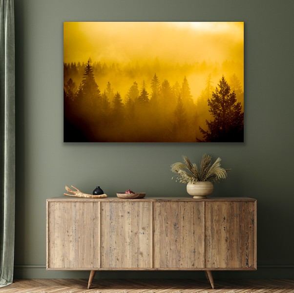 'Misty Sunrise' Canvas Wrap