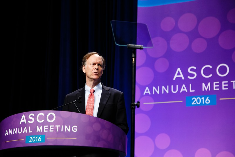 William G. Kaelin, MD, delivers the 2016 Science of Oncology Award Lecture during Plenary Session Including the Science of Oncology Award and Lecture