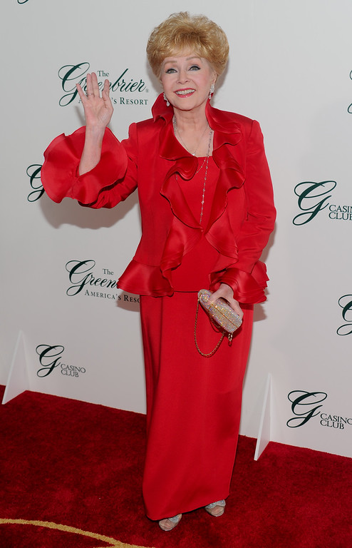 . Actress Debbie Reynolds attends the gala opening of The Greenbrier Casino Club on Friday, July 2, 2010 in White Sulphur Springs, W.Va. (AP Photo/Evan Agostini for The Greenbrier Resort)