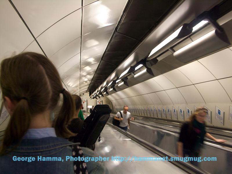 Escalator to London underground