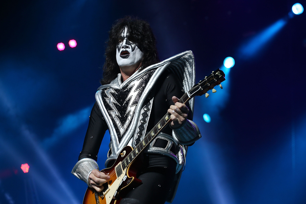 . Tommy Thayer of KISS performs live on stage as part of their Monster Tour with Motley Crue and Thin Lizzy at Perth Arena on February 28, 2013 in Perth, Australia.  (Photo by Paul Kane/Getty Images)