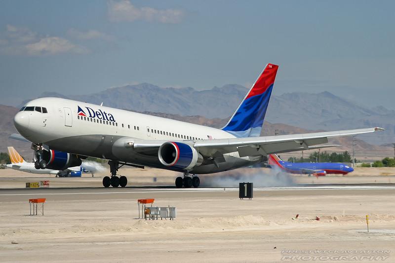 N114DL. Boeing 767-232. Delta. Las Vegas. 210905.