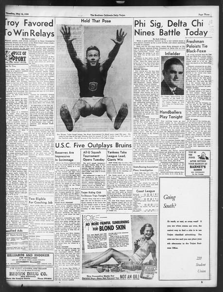 Daily Trojan, Vol. 29, No. 135, May 12, 1938
