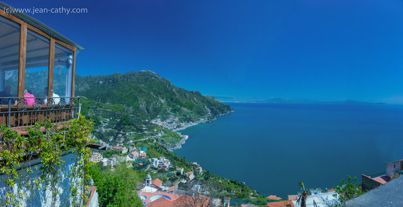 The view from our restaurant in Ravello, italy.
