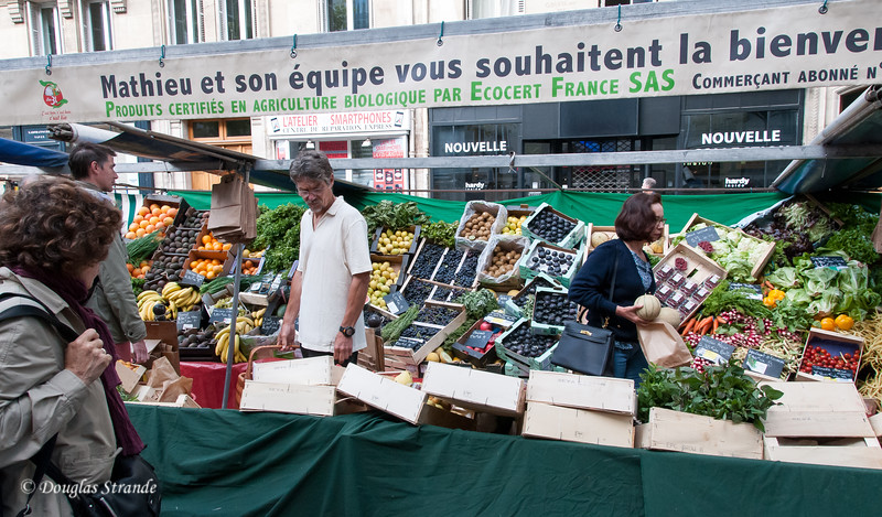 Organic produce at the open market