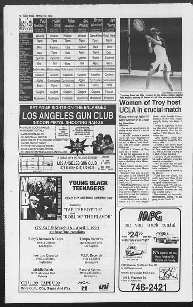 Daily Trojan, Vol. 119, No. 44, March 18, 1993