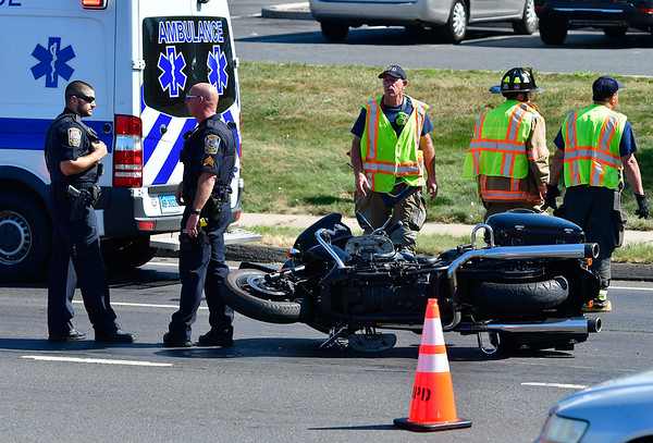 One man was injured during a motorcycle accident Thursday afternoon in the area of Mountain Road and Middle Street.