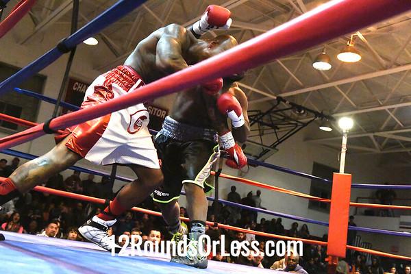 "Bout 5 Keenan Hickman, Black Trunks, Baton Rouge, LA -vs- Ray ""The Cincinnati Kid"" Edwards, Red with White Trunks, Cincinnati, Heavyweights"