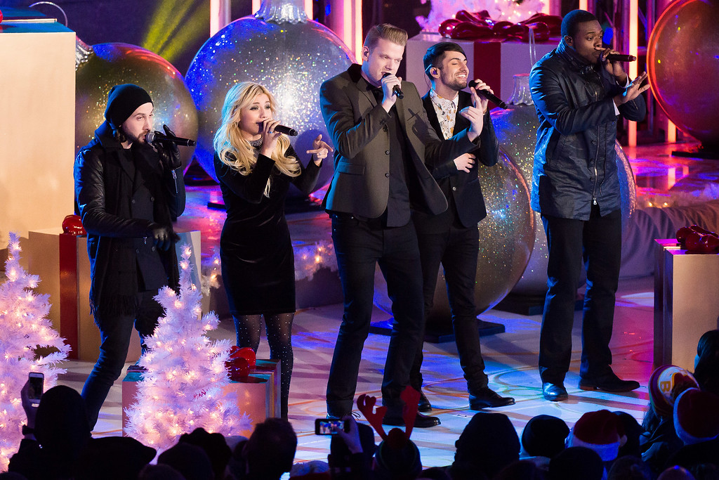 . Pentatonix performs at the 82nd Annual Rockefeller Center Christmas Tree Lighting Ceremony on Wednesday, Dec. 3, 2014, in New York. (Photo by Charles Sykes/Invision/AP)