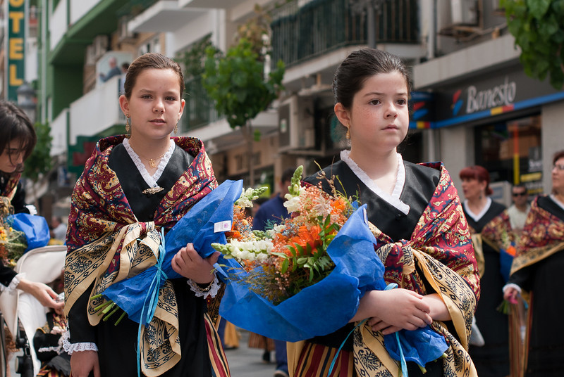 Participants of Roman Catholic ceremony in Benidorm, Spain