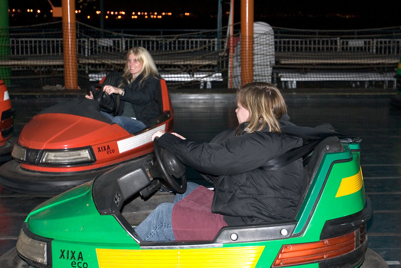 Dogs and their spouses head for the bumper cars