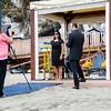Gibraltar, 22nd July 2014  - Minister for Social Affairs Samantha Sacramento filming her podcast for the Gibraltar Tourism website as the Government explains works carried out at local beaches to improve facilities.