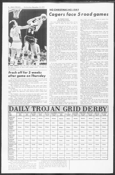 Daily Trojan, Vol. 64, No. 55, December 15, 1971