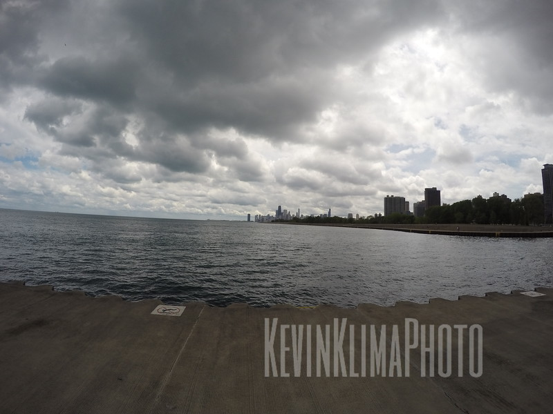 Looking South at the Skyline from Belmont Harbor