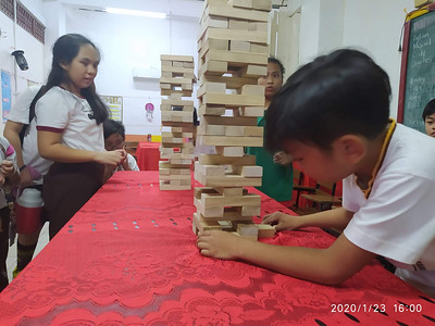 SFAMSC Foundation Day 2019-2020: Jenga Booth