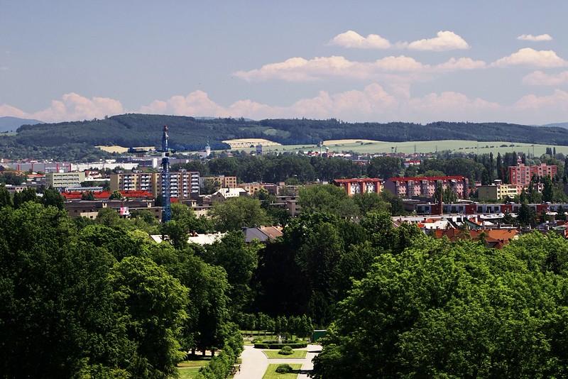 Pohled z hotelu Flora směrem na východ