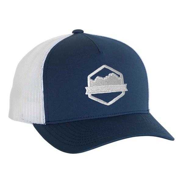 Organ Mountain Outfitters - Outdoor Apparel - Hat - Logo Five-Panel Trucker Cap - Navy White.jpg