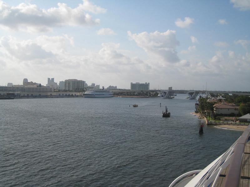 Departing Fort Lauderdale