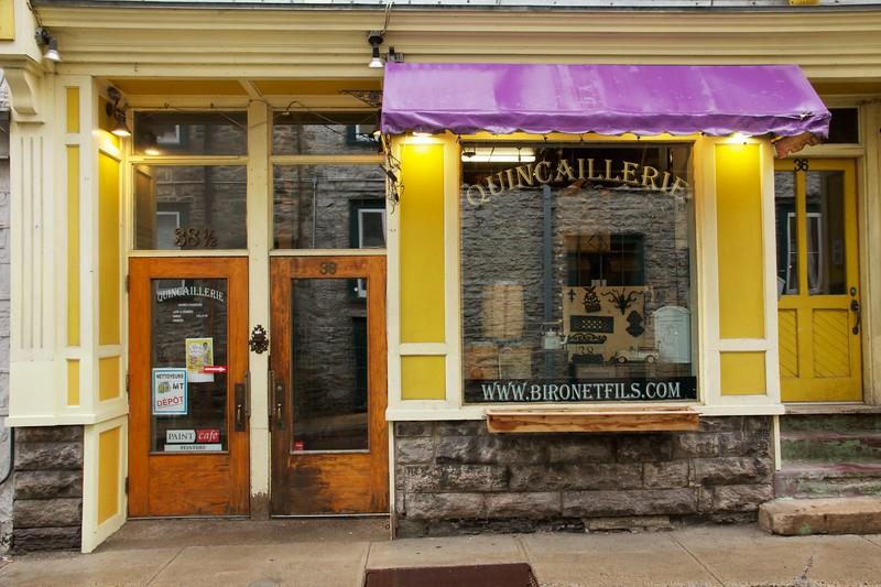 Shopfront. Quebec City, Canada.