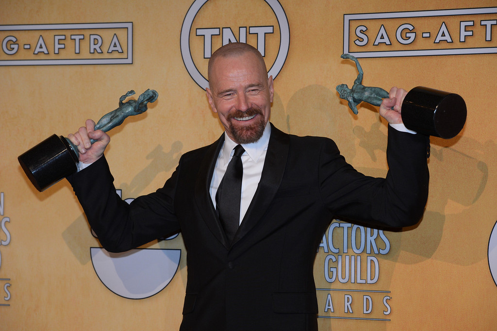 . Bryan Cranston backstage at  the 19th Annual Screen Actors Guild Awards at The Shrine Auditorium  in Los Angeles, California on January 27, 2013. (David Crane/L.A. Daily News)