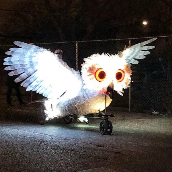 Owl pedicab. #sxsw #w2osxsw
