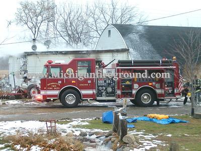 11/27/05 - Henrietta Twp garage fire, 5120 Lowden Rd