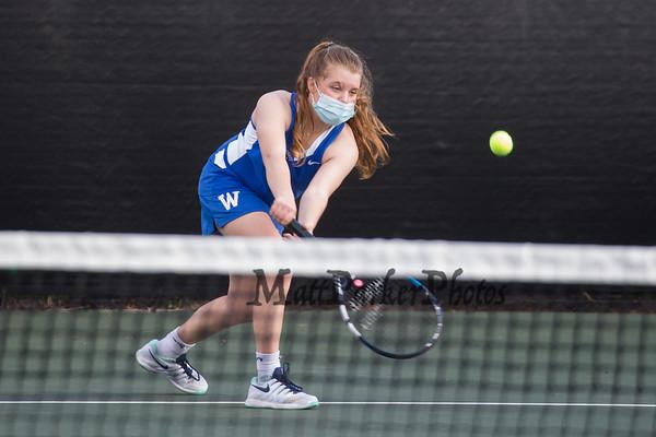 2021-4-19 WHS Girls Tennis vs Dover