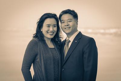 U.S. Congressman Ted Lieu and his wife Betty Lieu