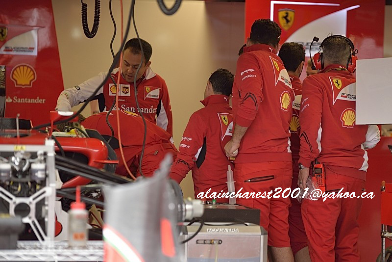 Ferrari team discussion