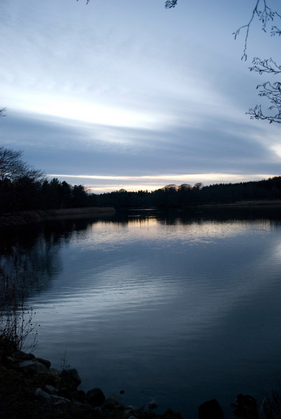 Lake at Haddo House early evening