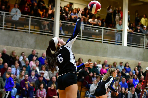 11/14/2018 Mike Orazzi | Staff Bristol Eastern's Taylor Keegan (6)during the Class L Semifinal State Girls Volleyball Tournament with Woodstock Academy held at Windsor High School Wednesday night.