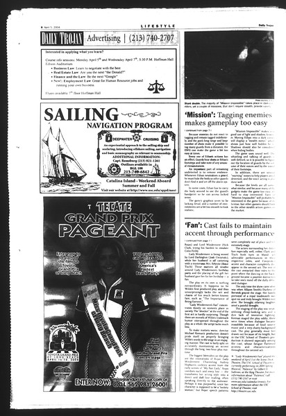 Daily Trojan, Vol. 151, No. 49, April 05, 2004