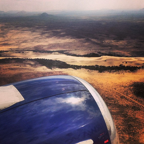 First sight approaching Windhoek, very edge of the Kalahari. #Namibia, here we come. #2013ATWS