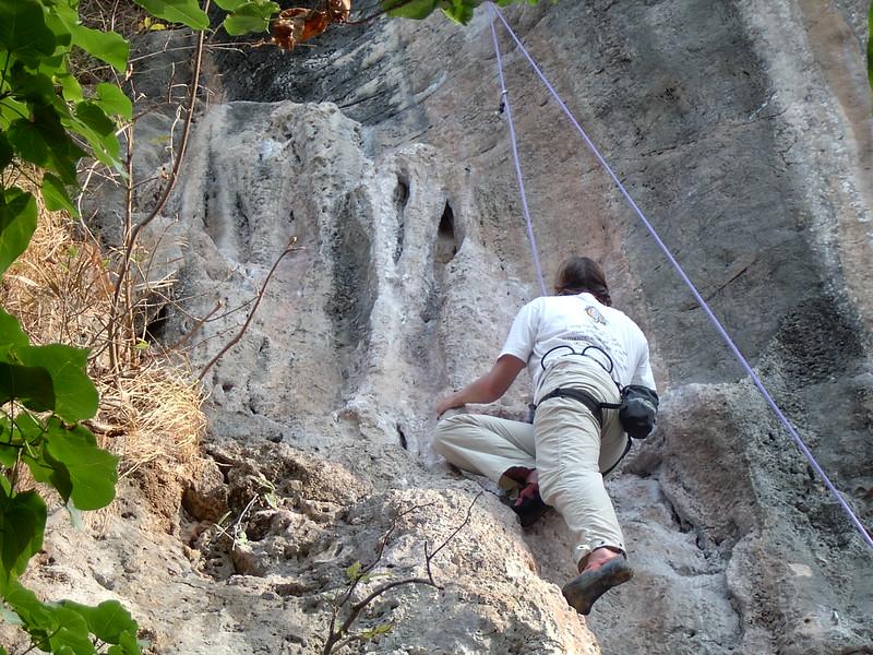 Rock climbing at Railay Bay