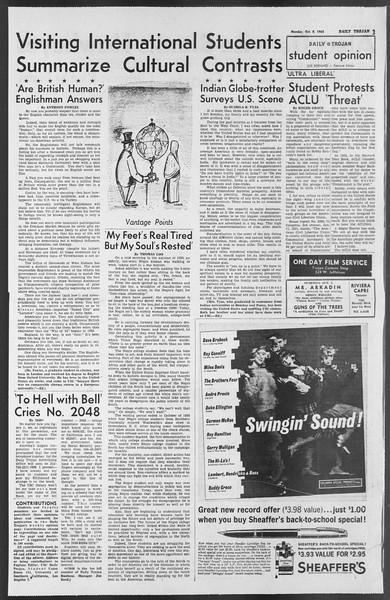 Daily Trojan, Vol. 54, No. 10, October 08, 1962