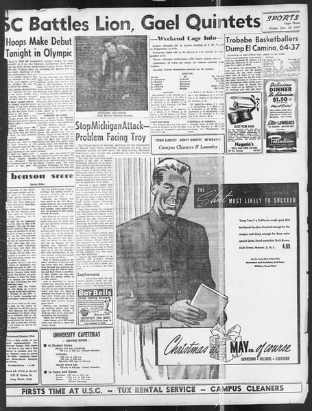 Daily Trojan, Vol. 39, No. 62, December 12, 1947