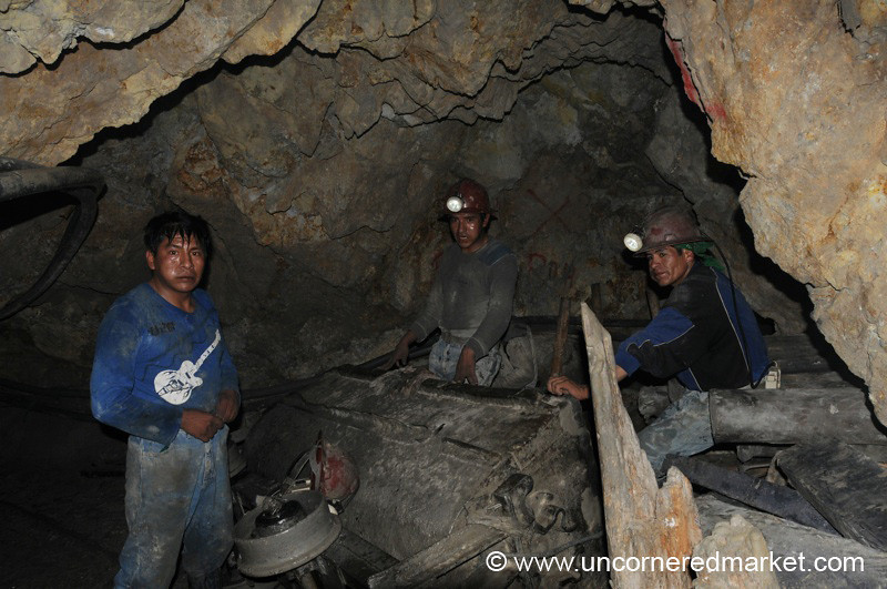 Waiting in the Mines - Potosi, Bolivia