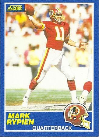1980s Redskins Cards