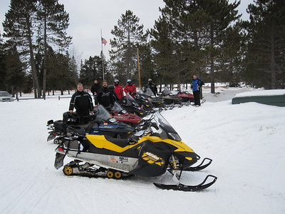 SNOWMOBILE TO EAGAN'S 2/2010