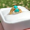 Vintage Bypass Gemstone Ring 8
