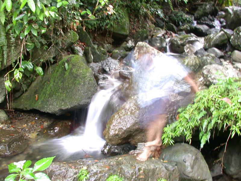 William makes my blurred waterfall shot more interesting