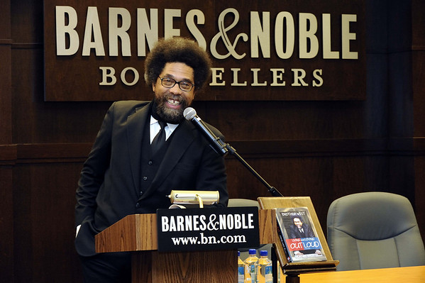Dr. Cornel West book signing at Barnes and Noble