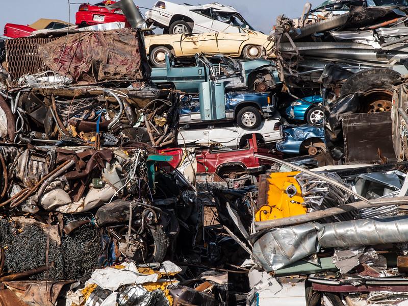 Salvage junkyard. Laramie, Wyoming