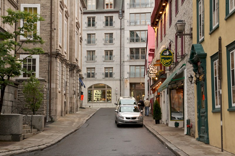 Rue des Jardins. Quebec City, Canada.