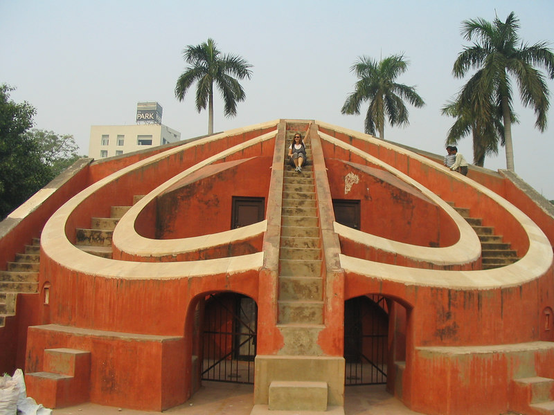 In Delhi with JJ at Jantar Mantar Astronomy Garden.