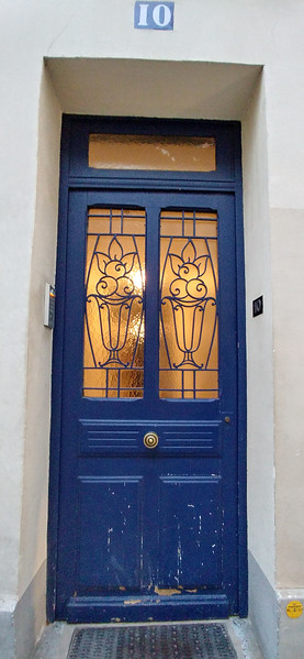 The door to our Air BnB in Paris.