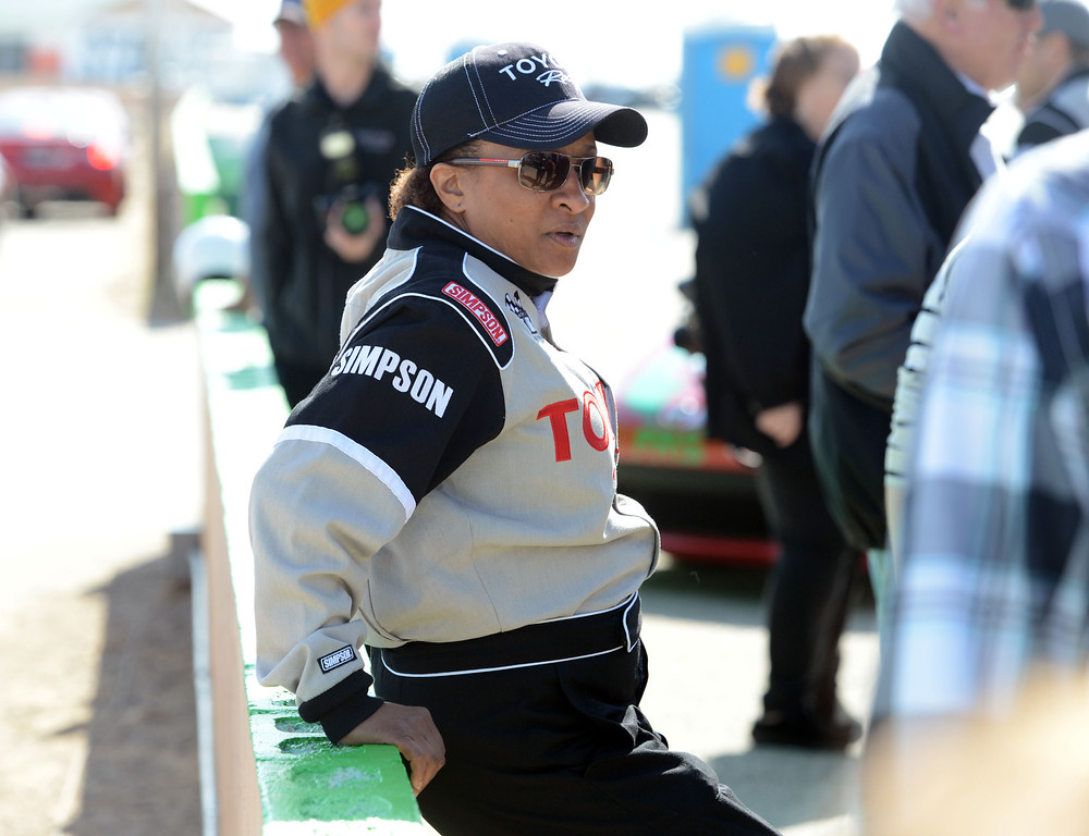 . Rosamond, Calif., -- 03-23-13-  Toyota Pro/ Celebrity Race participant actress and comedian  Wanda Sikes, during a practice session at Willow Springs Raceway. The Toyota Pro/Celebrity Race helps raise money on behalf of Racing for Kids, a fundraising program benefiting Miller Children�s Hospital in Long Beach and Children�s Hospital of Orange County. On behalf of the race and its participants, Toyota has donated more than $2 million to various children�s hospitals since 1991.  Stephen Carr/  Los Angeles Newspaper Group