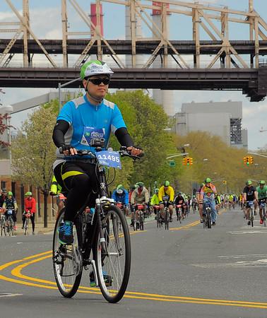 NYC 5 Boro Bike Tour 2014