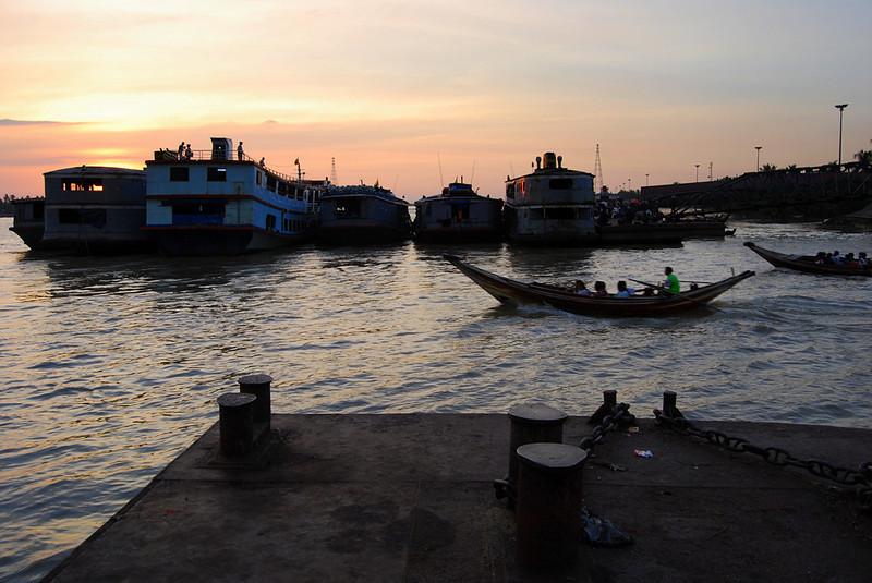 Yangon River at Sunset Myanmar (7).jpg
